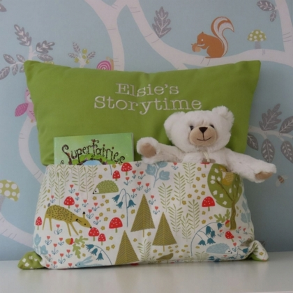 Woodland Forest Storytime Cushion