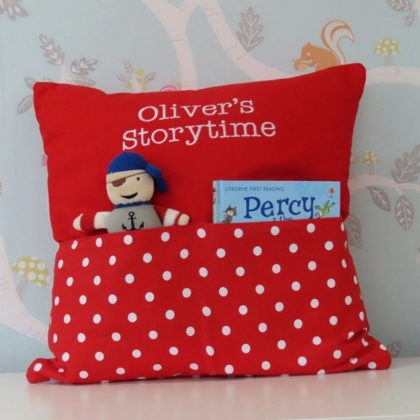Pirate Red Dot Storytime Cushion