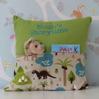 Dinosaur Storytime Cushion
