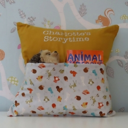 Scattered Woodland Storytime Cushion