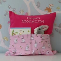 Bunny & Bows Storytime Cushion