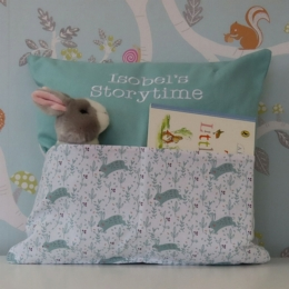 Leaping Bunnies Storytime Cushion