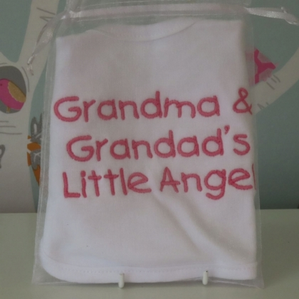 Grandma & Grandad's Little Angel Bib