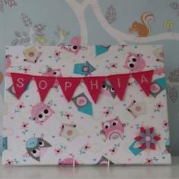Owl Large Bunting Board