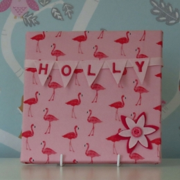 Flamingoes Mini Bunting Board