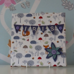 Heather Fox Mini Bunting Board