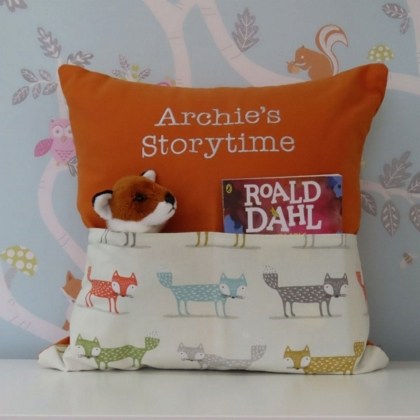 Orange Fox Storytime Cushion