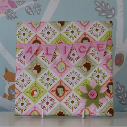 Woodland Tiles Mini Bunting Board