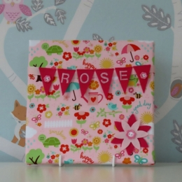 Happy Garden Mini Bunting Board