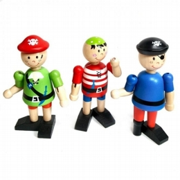 Flexi Pirate Figures