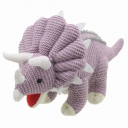 Wilberry Knitted Triceratops
