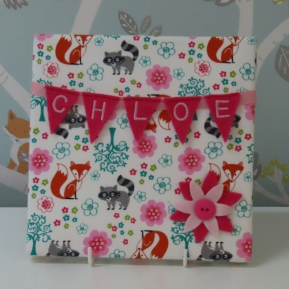 Fox & Racoon Mini Bunting Board