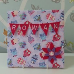 Owl Mini Bunting Board