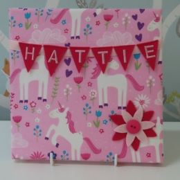 Unicorn Mini Bunting Board