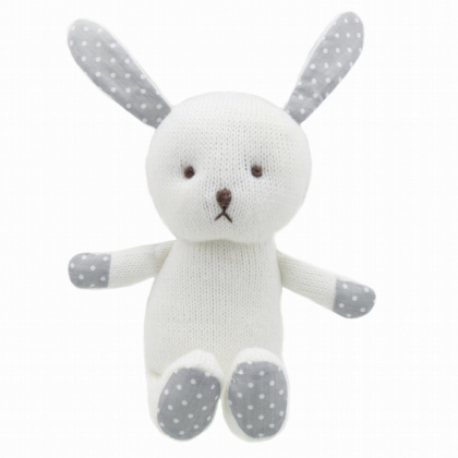 Wilberry Knitted White Rabbit
