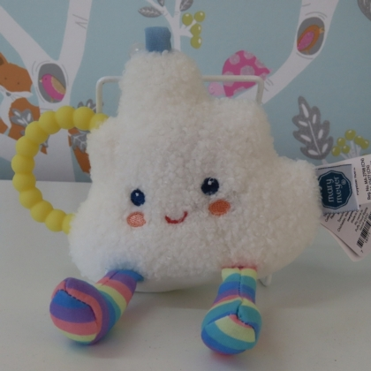 Puffy Cloud Teether Rattle