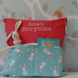 Coral Bunny Storytime Cushion