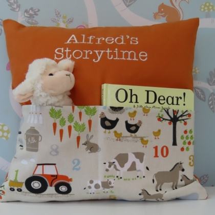 Farm Storytime Cushion - Orange