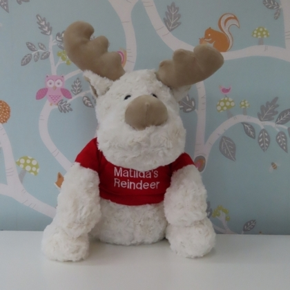 Large Reindeer in Personalised Hoodie