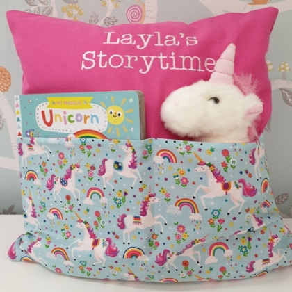 Unicorn & Rainbows Storytime Cushion