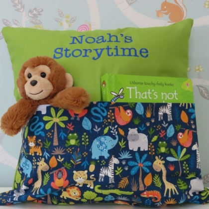 Jungle Storytime Cushion (Green)
