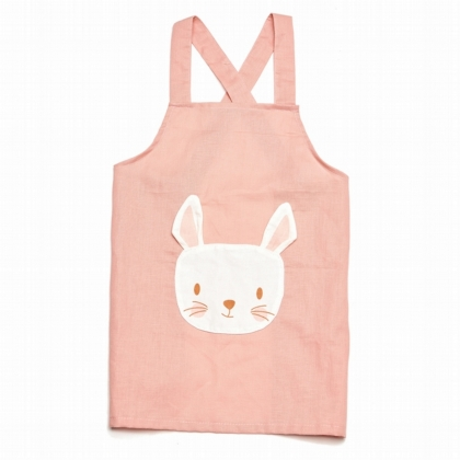 Linen Animal Pocket Apron - Rabbit